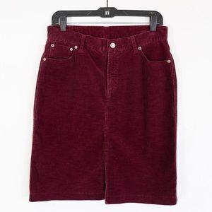 Betsyville Betsy Johnson Maroon Corduroy Skirt